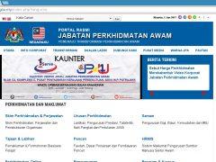 Host-Tracker service provider agent for Jabatan Perkhidmatan Awam (JPA)
