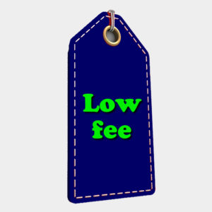 Low registration and annual fee